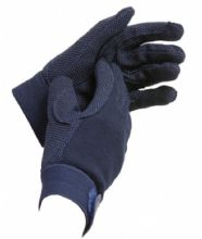LOVESON COTTON PIMPLE RIDING DRIVING  GLOVES - NAVY BLUE - GREAT PRICE